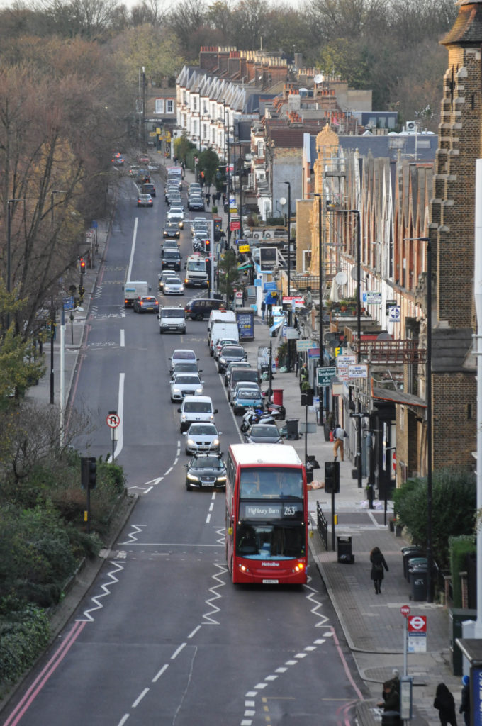 Bus and traffic on Archway Road