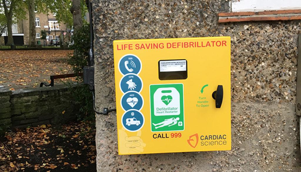 Defibrillator in Pond Square crop