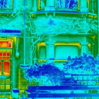 Heat escaping through a typical Edwardian front door